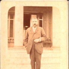 Fotografía antigua: RETRATO DE UN CABALLERO, 1895, FOTOGRAFÍA ALSACIANA, BUENOS AIRES - CLC. Lote 76019619