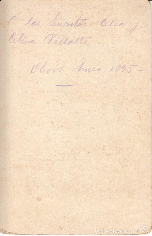 Fotografía antigua: RETRATO DE UN CABALLERO, 1895, FOTOGRAFÍA ALSACIANA, BUENOS AIRES - CLC - Foto 2 - 76019619