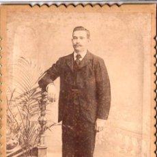 Fotografía antigua: RETRATO DE UN CABALLERO 1924 GRAN FOTOGRAFÍA FRANCISCO DURAND, BUENOS AIRES, PRECIOSO REVERSO - CLC. Lote 76041335
