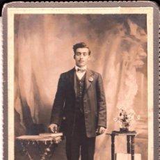Fotografía antigua: RETRATO DE UN CABALLERO PRINCIPIOS DEL XX, FOTOGRAFÍA UNIVERSAL, MONTEVIDEO- CLC. Lote 76041603