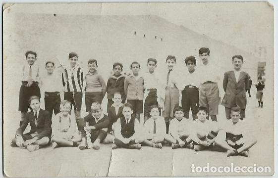 AR1- EXTRAORDINARIA FOTOGRAFIA ANTIGUA EQUIPO DE FUTBOL NOBRES AL DORSO DE 1924 (Fotografía - Artística)