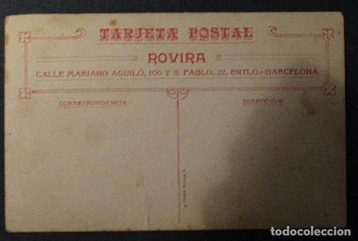 Fotografía antigua: Postal de niña con muñeca , principios de siglo pasado Fotografo Rovira Barcelona - Foto 2 - 76620203