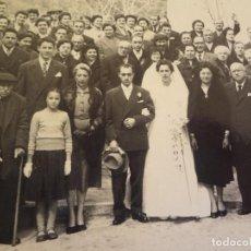 Fotografía antigua: ANTIGUA FOTOGRAFÍA DE CASAMIENTO 1954 BLANES. Lote 76637575