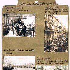 Fotografía antigua: REPRODUCCIONES DE SEIS ANTIGUAS FOTOGRAFIAS DE VALENCIA. Lote 76753055