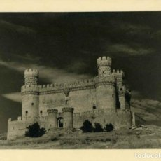 Fotografía antigua: MANZANARES EL REAL (MADRID). CASTILLO DE LOS MENDOZA. 1948. 5 FOTOGRAFIAS TAMAÑO 24X20 CM.. Lote 76853659