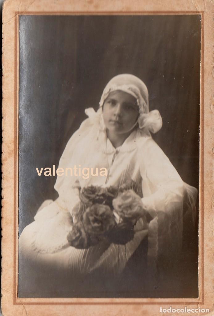 BELLA FOTOGRAFÍA DE NIÑA. PRINCIPIOS DEL SIGLO XX. FOTÓGRAFO SANTOS, MIERES, ASTURIAS. (Fotografía - Artística)