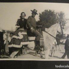 Fotografía antigua: SEVILLA - FERIA ROMERIA -FOTOGRAFIA SERRANO -VER FOTOS-(V- 9524). Lote 78645417