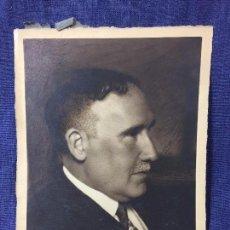 Fotografía antigua: FOTO CABALLERO PERFIL FIRMADA MIGUEL ANDRES 1921 POLITICO ESCRITOR 25X19CMS. Lote 79170449