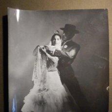 Fotografía antigua: ANTIGUA FOTOGRAFIA ORIGINAL - FAMOSOS BAILAORES DE FLA,MENCO LINA Y MIGUEL - TAMAÑO 18 X 24 CM. Lote 79261437