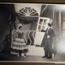 Fotografía antigua: ANTIGUA FOTOGRAFIA ORIGINAL - FAMOSOS BAILAORES DE FLAMENCO LINA Y MIGUEL - TAMAÑO 19,5 X 24,5 CM. Lote 79262301
