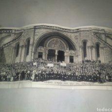 Fotografía antigua: FOTO PANORÁMICA PEREGRINACIÓN NACIONAL TERCIARIOS FRANCISCANOS A LOURDES MAYO 1958 AÑO CENTENARIO. Lote 80140333