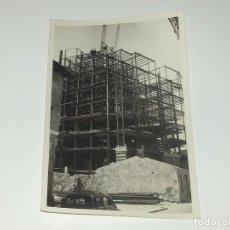 Fotografía antigua: ANTIGUA FOTOGRAFÍA CONSTRUCCION DEL EDIFICIO REPRESENTANTES ALICANTE AÑOS 60 ORIGINAL. Lote 80174085