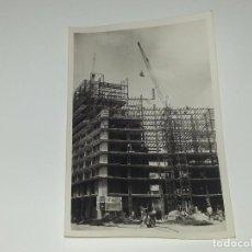 Fotografía antigua: ANTIGUA FOTOGRAFÍA CONSTRUCCION DEL EDIFICIO REPRESENTANTES ALICANTE AÑOS 60 ORIGINAL. Lote 80174205