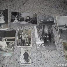 Fotografia antica: LOTE FOTOS FOTOGRAFIA NIÑOS NIÑO CON JUGUETE MUÑECA Y OTROS. Lote 80527653