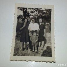 Fotografía antigua: ANTIGUA FOTOGRAFIA FAMILIAR DE LOS AÑOS 30 ALICANTE LABORATORIO PALOMERA ALCOY. Lote 80748206