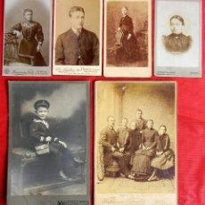Fotografía antigua: LOTE 6 FOTOGRAFIAS. VARIOS TAMAÑOS. 165 X 105 MM (EL MAYOR). EPOCA 1860 A 1890. KIEL Y HANNOVER. . Lote 81117332