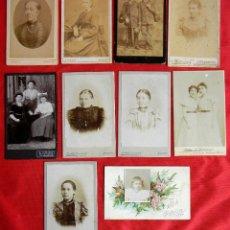 Fotografía antigua: LOTE 10 FOTOGRAFIAS. VARIOS TAMAÑOS. 100 X 65 MM. EPOCA 1860 A 1890. KIEL Y HANNOVER. . Lote 81117556