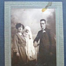 Fotografía antigua: FOTOGRAFIA FAMILIAR REALIZADA EN EL AÑO 1922. . Lote 81201664