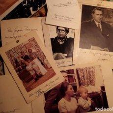 Fotografía antigua: FAMILIA REAL EN EL EXILIO - JUAN DE BORBÓN PIEZAS ORIGINALES FIRMADAS A LOS AMIGOS EN ESPAÑA. Lote 84377568