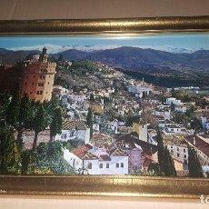 Fotografía antigua: CUADRO FOTOGRAFIA DE PUEBLO. Lote 85327584