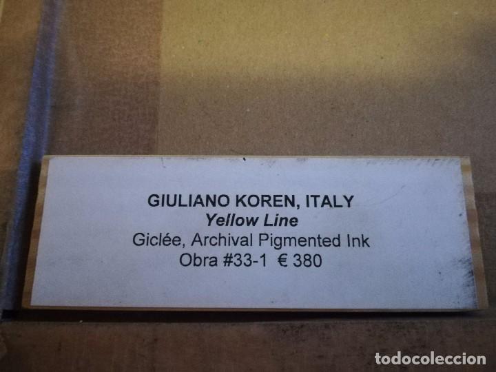Fotografía antigua: Preciosa fotografía del artista ITALIANO GIULIANO KOREN OBRA YELLOW LINE MIREN FOTOS - Foto 4 - 86156260