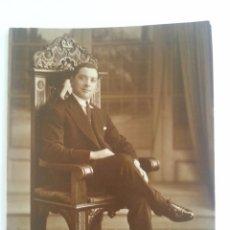 Fotografía antigua: ANTIGUA FOTO ORIGINAL FOTOGRAFIA DE HOMBRE POSANDO. Lote 86166084