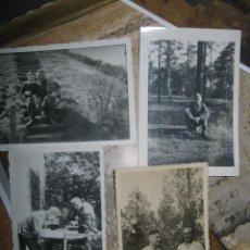Fotografía antigua: LOTE 4 FOTOS GUERRA MUNDIAL ALEMANA SOLDADOS DESCANSANDO. Lote 87218068