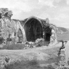 Fotografía antigua: TOSSA DE MAR -GERONA CASTILLO PLACA CRISTAL 9 X 12 CM.. Lote 87281800
