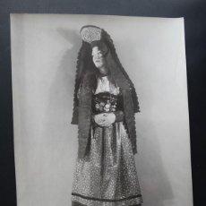 Fotografía antigua: ANTIGUA FOTOGRAFIA DE MODELO EN POSADO AÑOS 30 CON NOMBRE Y CURRICULUM EN REVERSO. Lote 87557424