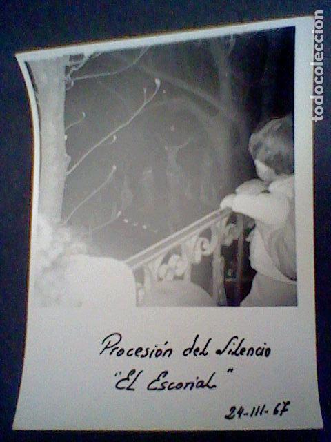 FOTOGRAFIA PARTICULAR PROCESION SILENCIO CRISTO AÑOS 60 ESCORIAL (Fotografía - Artística)
