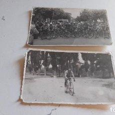 Fotografía antigua: ANTIGUAS FOTOGRAFIAS DE CICLISMO.... Lote 90095644