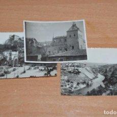Fotografía antigua: LOTE DE 3 FOTOS ANTIGUAS ORIGINALES TOLEDO - ALCAZAR - DIFERENTES EPOCAS - 1939 A 1960 - HAZ OFERTA. Lote 90297144