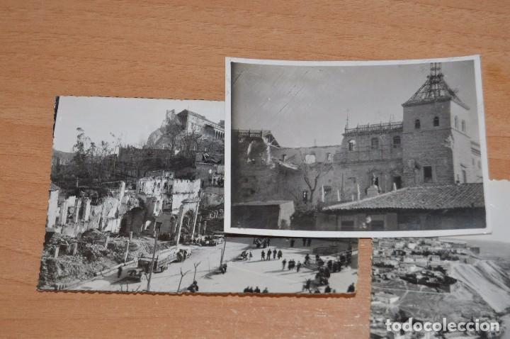 Fotografía antigua: LOTE DE 3 FOTOS ANTIGUAS ORIGINALES TOLEDO - ALCAZAR - DIFERENTES EPOCAS - 1939 a 1960 - HAZ OFERTA - Foto 2 - 90297144
