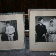 Fotografía antigua: LOTE DE 6 FOTOGRAFIAS ANTIGUAS EN 5 MARCOS ANTIGUOS. Lote 90905565