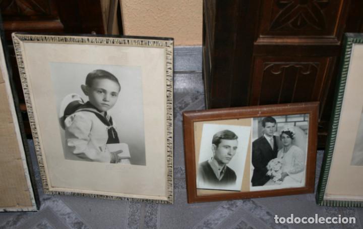 Fotografía antigua: LOTE DE 6 FOTOGRAFIAS ANTIGUAS EN 5 MARCOS ANTIGUOS - Foto 4 - 90905565