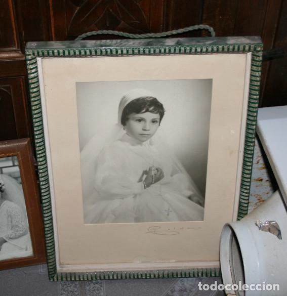 Fotografía antigua: LOTE DE 6 FOTOGRAFIAS ANTIGUAS EN 5 MARCOS ANTIGUOS - Foto 6 - 90905565