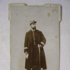 Fotografía antigua: FOTOGRAFIA GIMENEZ E HIJO MADRID. PORTERO DEL CONGRESO CON UNIFORME. FINALES 1800. Lote 92014395
