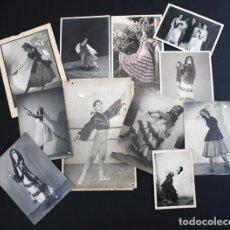 Fotografía antigua: 11 ANTIGUAS FOTOS DE ARTISTAS BAILARINES TEATRO, ALGUNAS FRANCESAS, MARQUES DE CUBAS, ETC. Lote 92115630