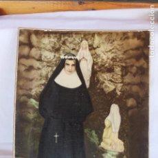 Fotografía antigua: FOTOGRAFIA MONJA, GRUTA VIRGEN DE LOURDES EN LORCA.. Lote 92209100