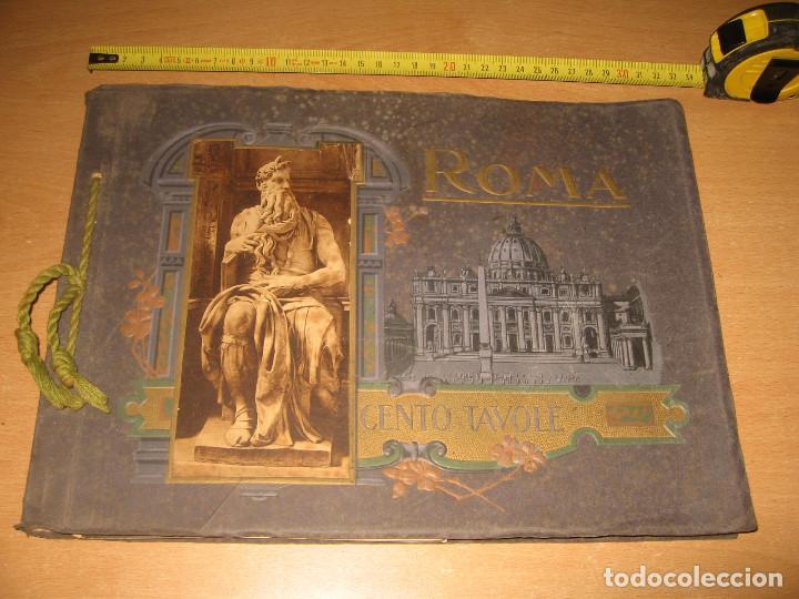 ALBUM CARTON FOTOS RICORDO DI ROMA CENTO TAVOLE EDITORES ATTILIO AÑOS 20 (Fotografía - Artística)