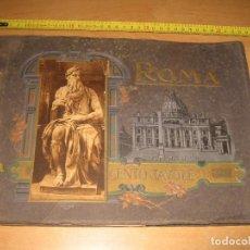Fotografía antigua: ALBUM CARTON FOTOS RICORDO DI ROMA CENTO TAVOLE EDITORES ATTILIO AÑOS 20. Lote 92806285