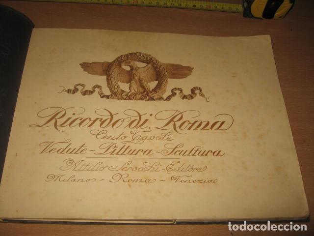 Fotografía antigua: ALBUM CARTON FOTOS RICORDO DI ROMA CENTO TAVOLE EDITORES ATTILIO AÑOS 20 - Foto 3 - 92806285