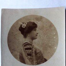 Fotografía antigua: FOTOGRAFIA SEÑORITA POSANDO, AÑO 1911 MEDIDAS 9 X 14 CM. Lote 227721540
