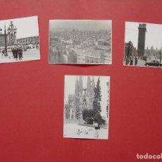 Fotografía antigua: 4 FOTOGRAFÍAS ANTIGUAS: BARCELONA (1950'S) ¡ORIGINALES! COLECCIONISTA. Lote 94032580
