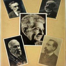 Fotografía antigua: 5 RETRATOS DE PERSONAJES. MARIANO FORTUNY ETC. FOTOGRAFÍA. ESPAÑA. A PARTIR DE 1900. Lote 94386902