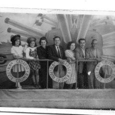 Fotografía antigua: FOTOGRAFIA AMBULANTE - BARCO FOTO COLOMER 6 X 9 CM. . Lote 94618471