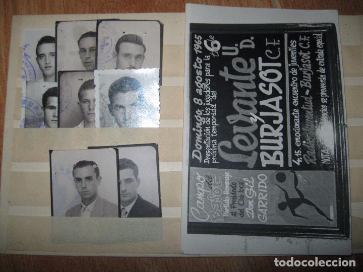 ANTIGUAS FOTOS ORIGINALES FICHAS JUGADORES FUTBOL BURJASOT VALENCIA 1965 CUÑO OFICIAL (Fotografía - Artística)