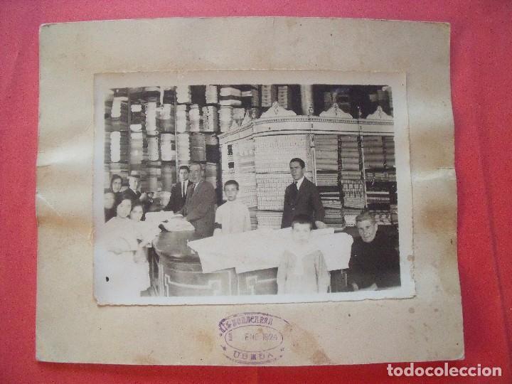 BONACHERA.-UBEDA.-COMERCIO.-TIENDA DE TELAS.-FOTOGRAFIA.-AÑO 1924.-MEDIDAS DE 24 X 20 CM. (Fotografía - Artística)