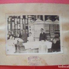 Fotografía antigua: BONACHERA.-UBEDA.-COMERCIO.-TIENDA DE TELAS.-FOTOGRAFIA.-AÑO 1924.-MEDIDAS DE 24 X 20 CM.. Lote 96883071