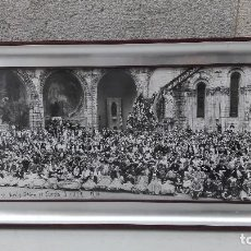 Fotografía antigua: FOTO PANORAMICA PEREGRINACION A LOURDES GERONA 1978. Lote 97002039